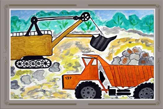 Дети рисуют завод, Рисунок 13