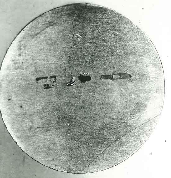 Вкатанные металлические частицы (фото 2)